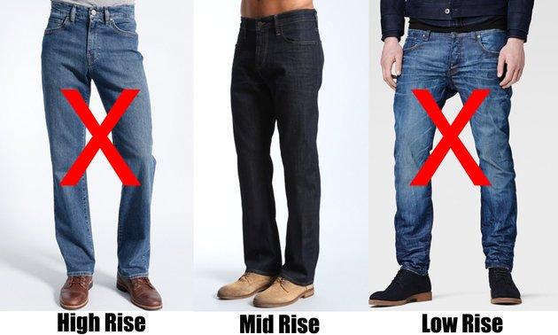 Выбираем посадку джинс