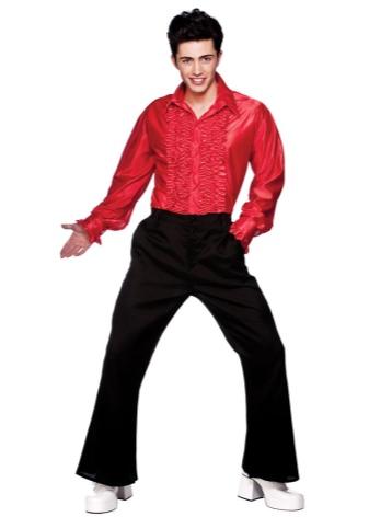 Яркая красная рубашка для мужчины