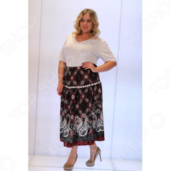 Яркая юбка для полной дамы