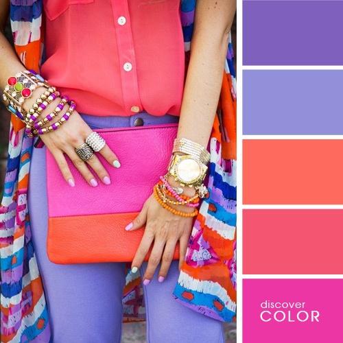 Яркие колеры одежды