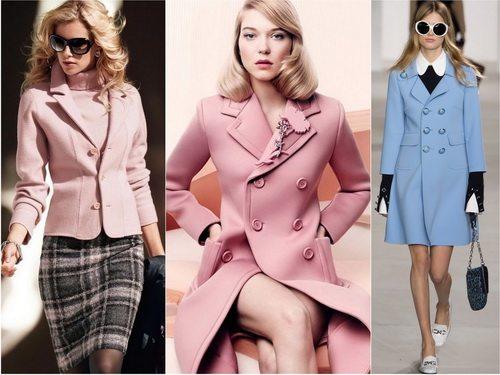 Женская одежда в классическом стиле может быть и в пастельной гамме