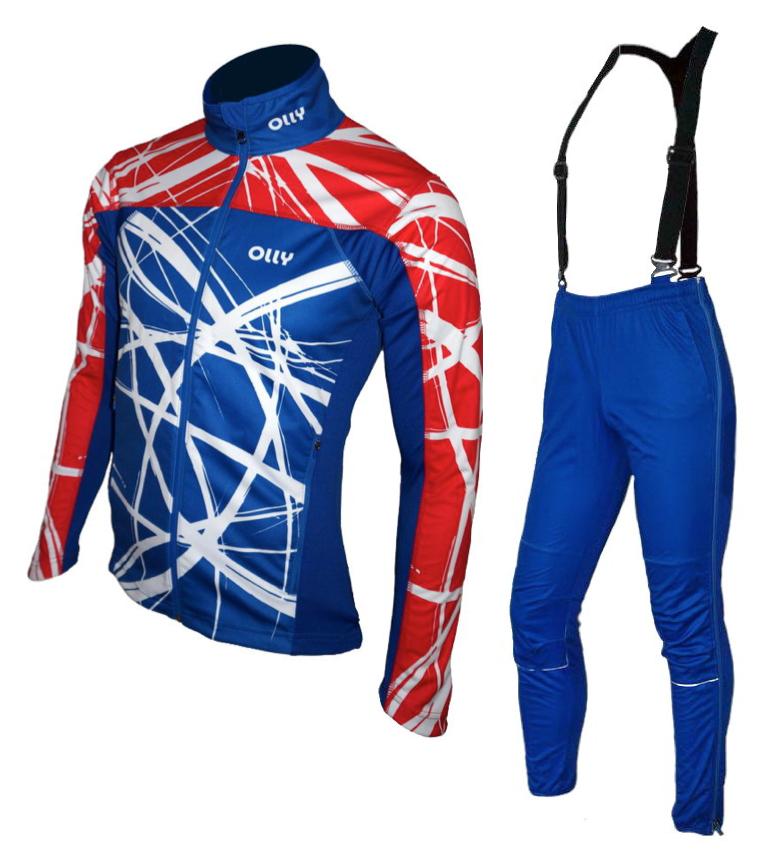 Зимний лыжный разминочный костюм