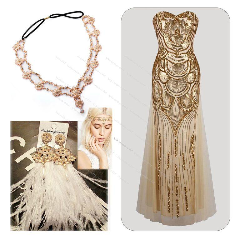 Золотое платье в стиле Гэтсби