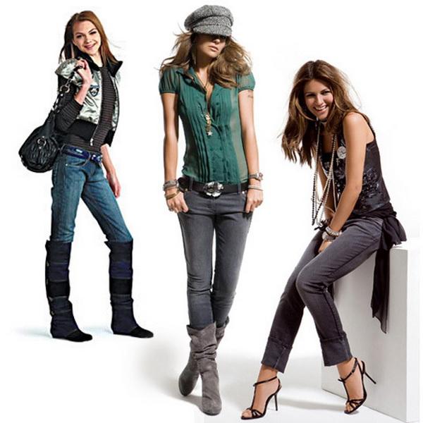 Аксессуары и модные узкие джинсы