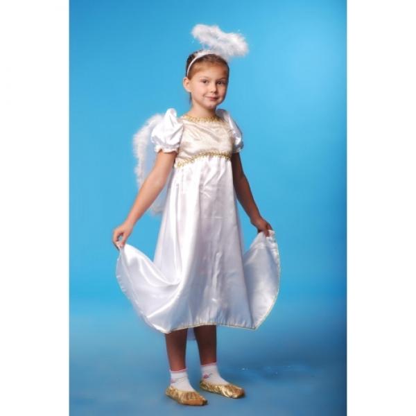 Белое платье Ангела с крыльями