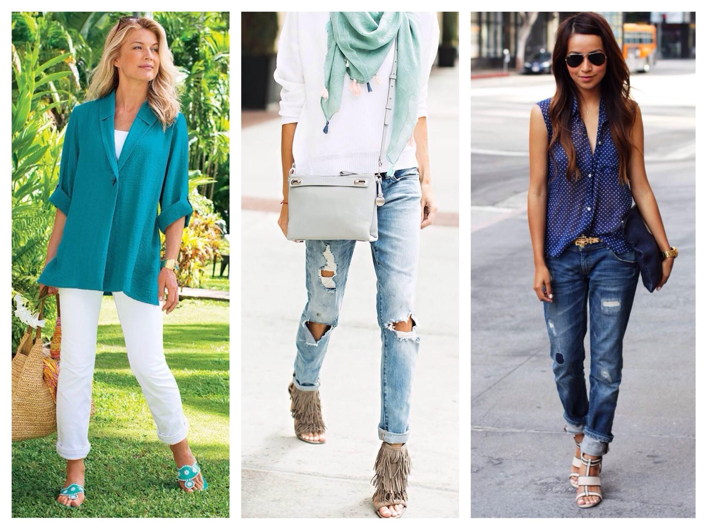 Брюки и джинсы в летних образах