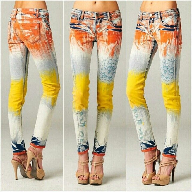 Чем покрасить джинсы