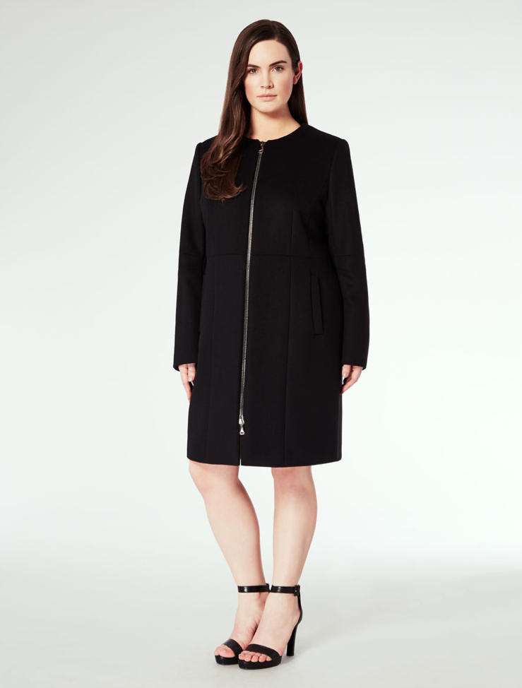 Черная куртка Marina Rinaldi Luxury