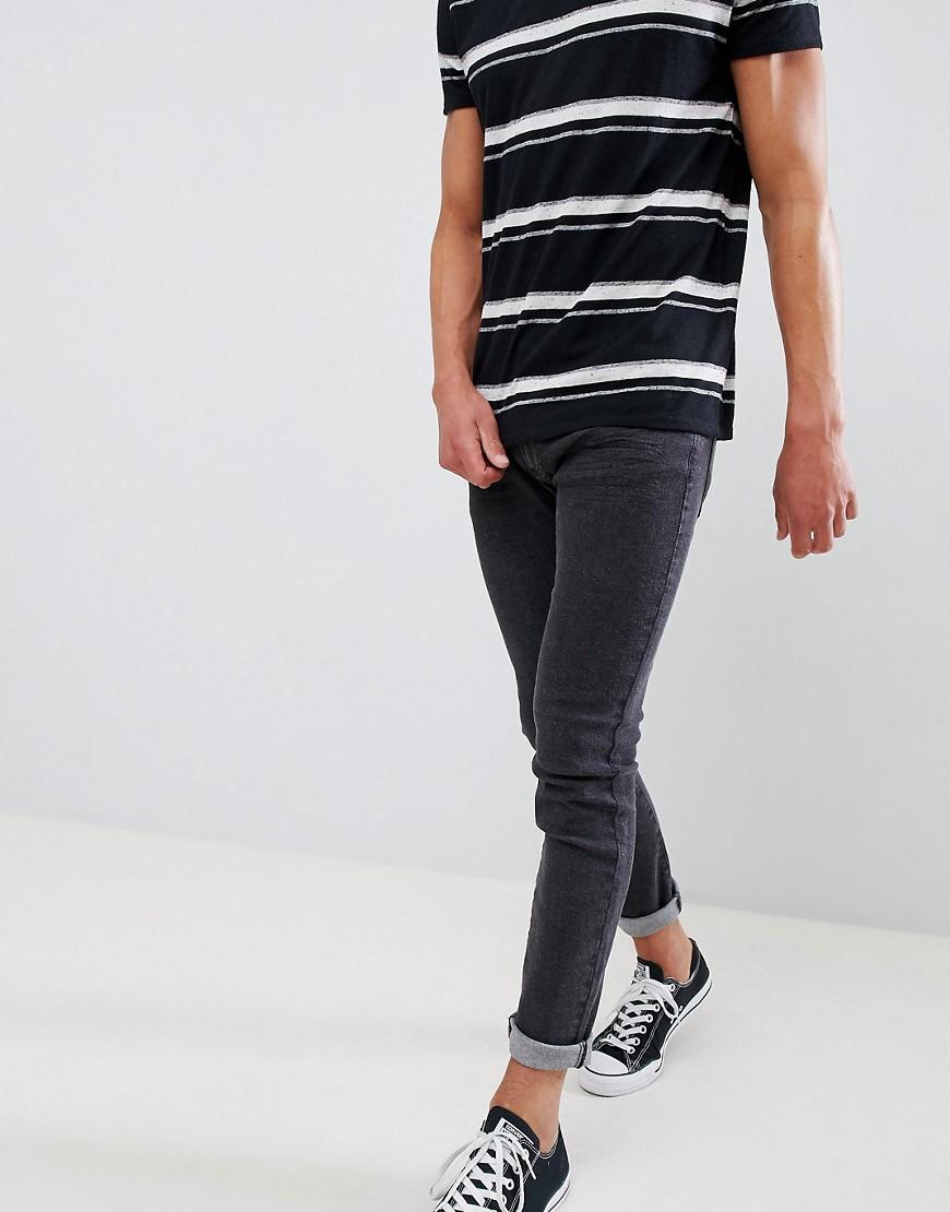 Черные мужские джинсы скинни