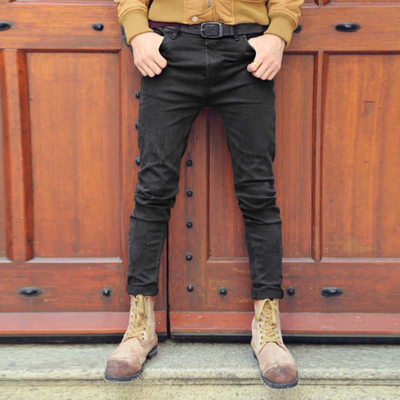 Черные узкие джинсы мужские