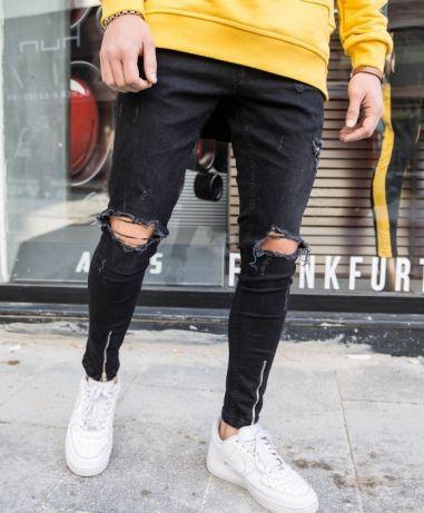 Черный джинс для мужчин
