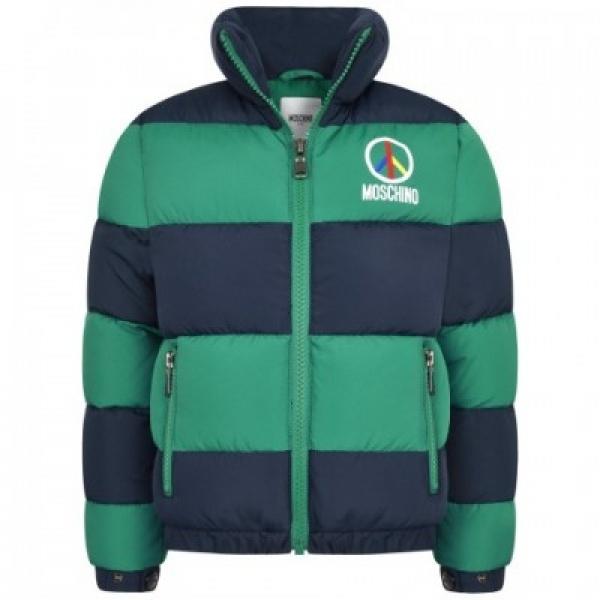 Двухцветная зимняя куртка для ребенка