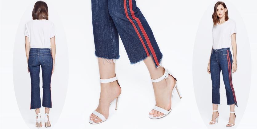 Джинсы в стиле тренировочных штанов