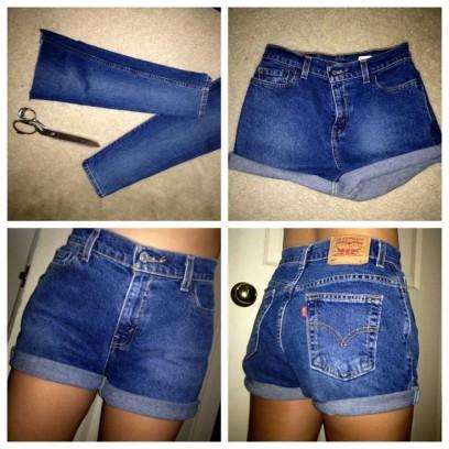 Этапы переделки или как сделать из джинс шорты
