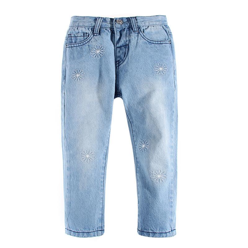 Голубые джинсы на резинке