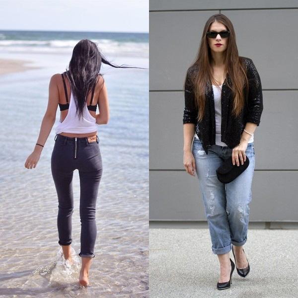 Как носить джинсы по-модному