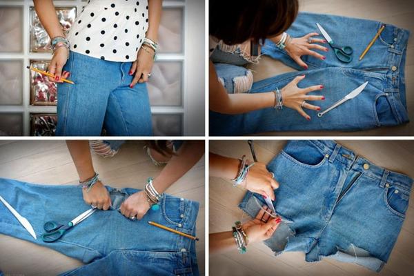Как ровно обрезать шорты