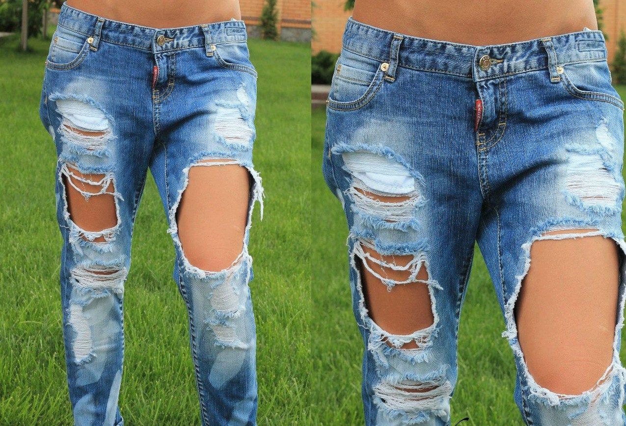 Как сделать красивые дырки и эффект потертости на джинсах
