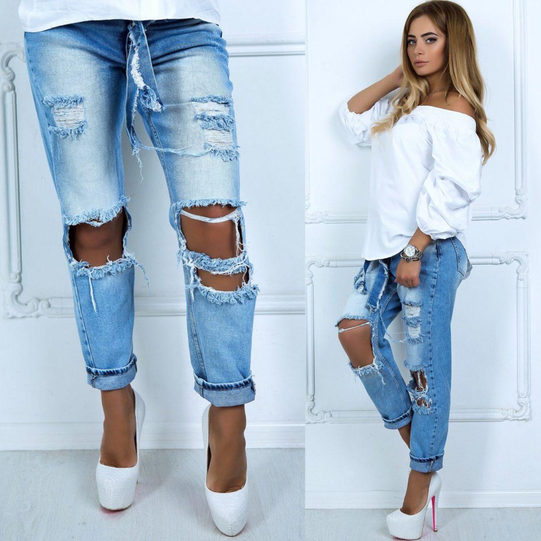 Как сделать рваные джинсы на коленях