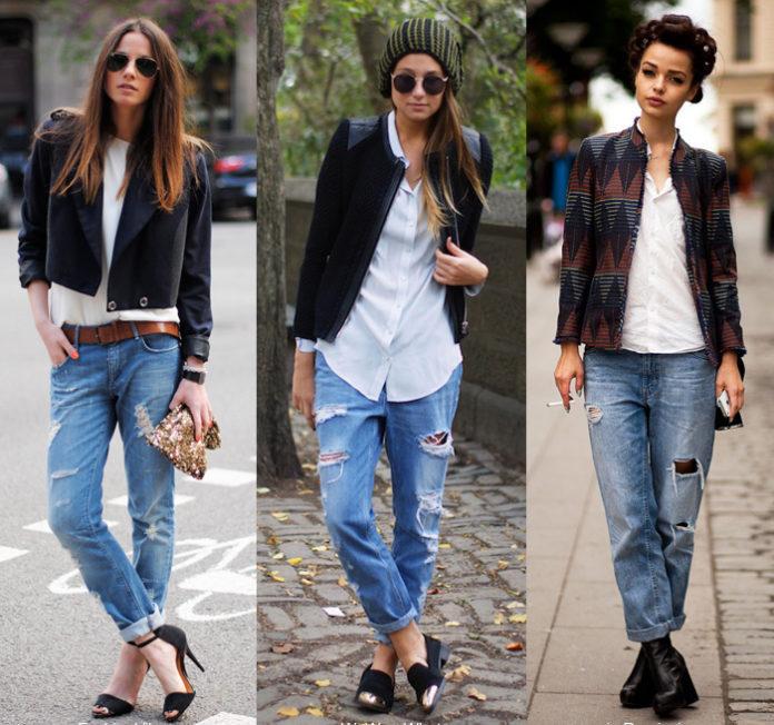 Как стильно сочетать джинсы