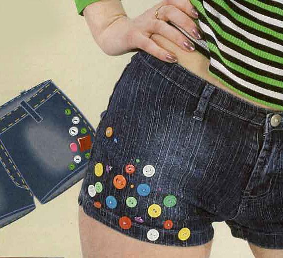 Как украсить женские джинсы