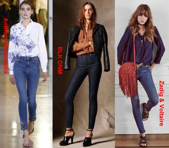Классика жанра – джинсы-скинни + блузка
