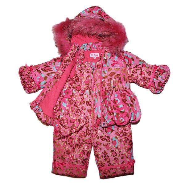 Комплект куртка и комбинезон зимний для девочки