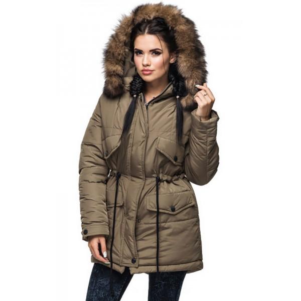 Коричневая удобная куртка