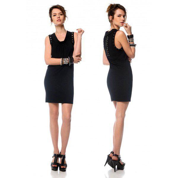 Короткое красивое черное платье