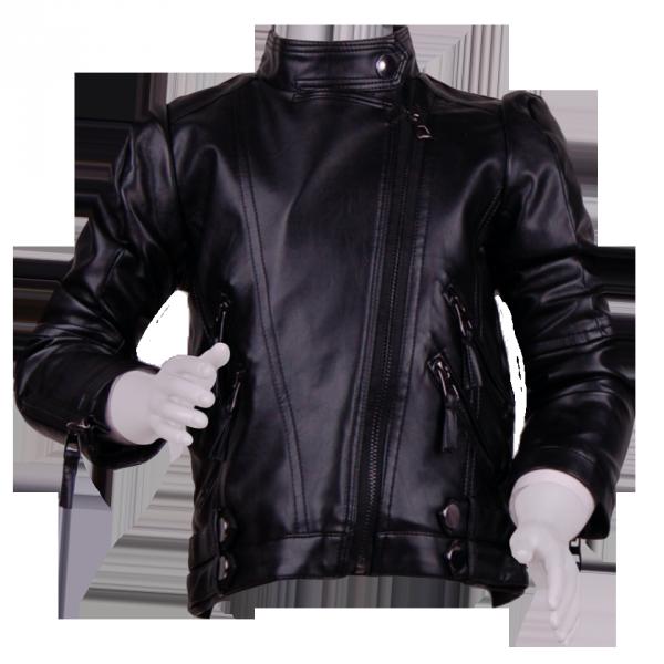 Кожаная куртка-косуха с замочками