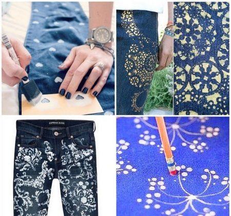 Красим джинсы