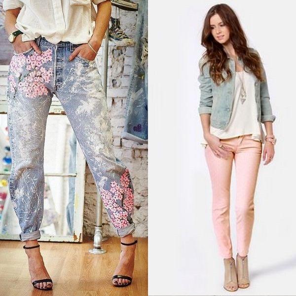 Красивые летние джинсы