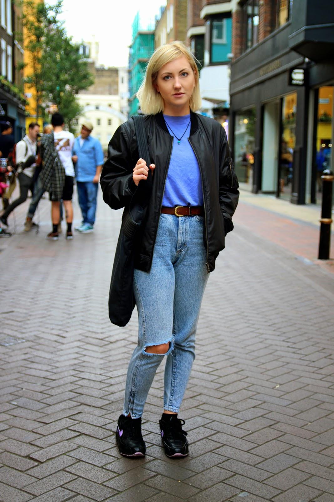 Красивые женские образы с джинсами на высокой посадке