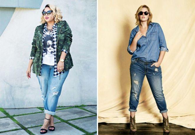 Летние джинсы для полных женщин