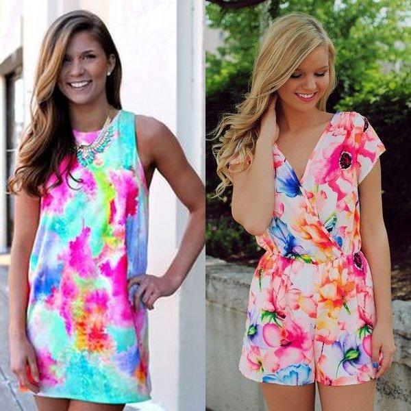 Летние цветочные платья для подростка