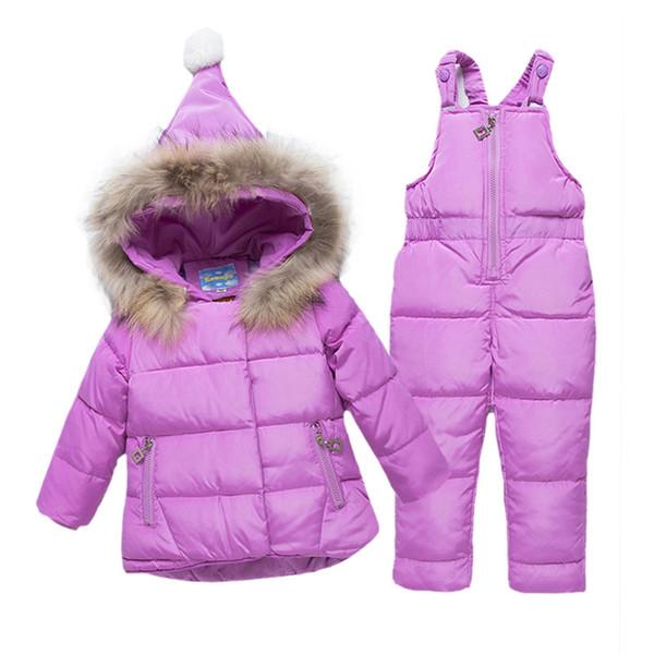 Лыжный костюм фиолетового цвета