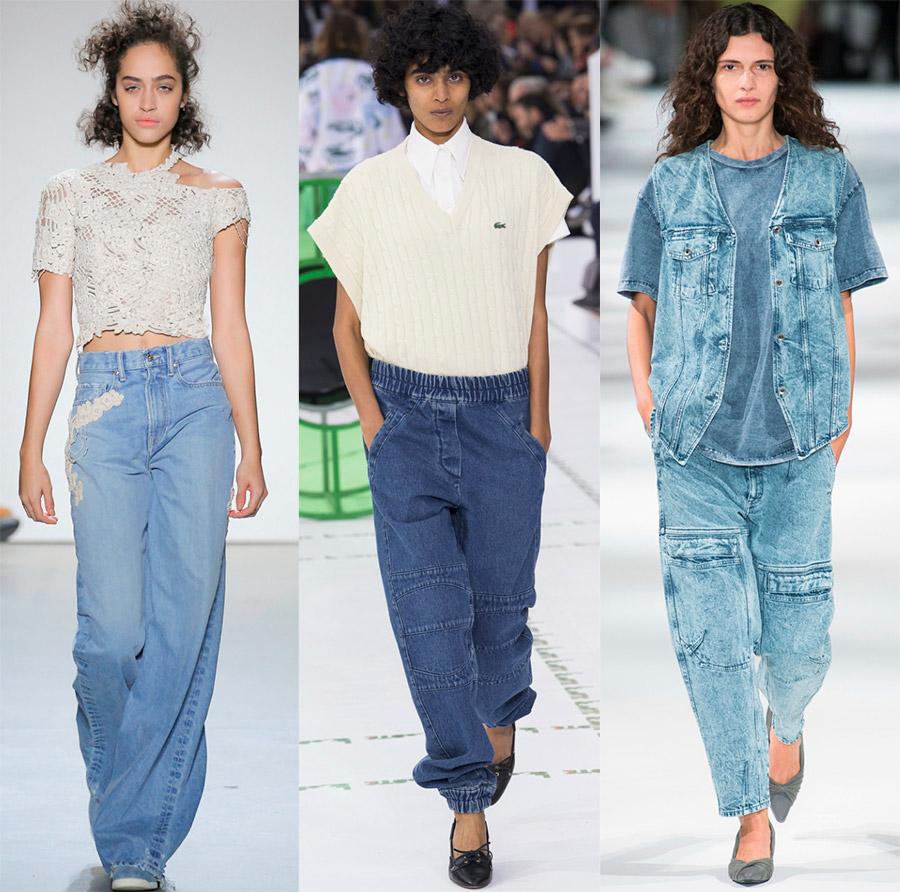 Модные женские джинсы