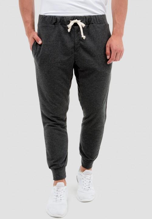 Мужские штаны basic на шнурке темно-серый цвет