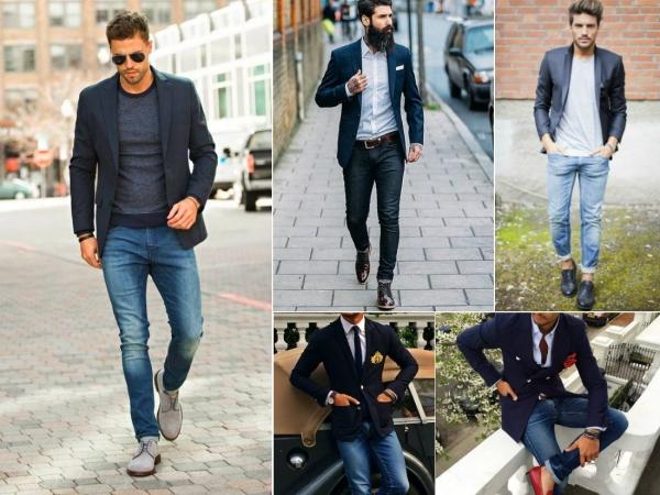 Мужской пиджак под джинсы