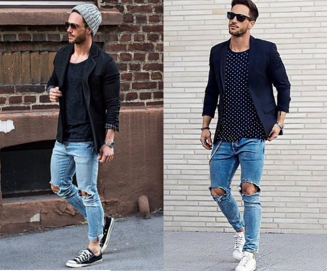 Мужской пиджак под джинсы модно