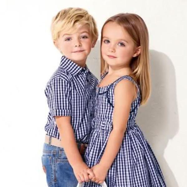Одежда для мальчика и девочки в полоску