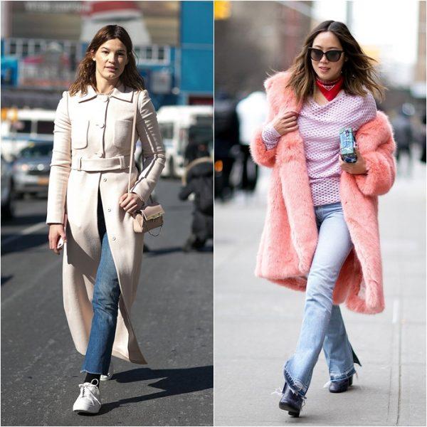 Осенние женские джинсы