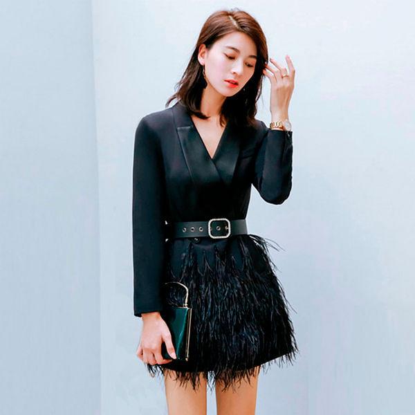 Платье с прьями страуса