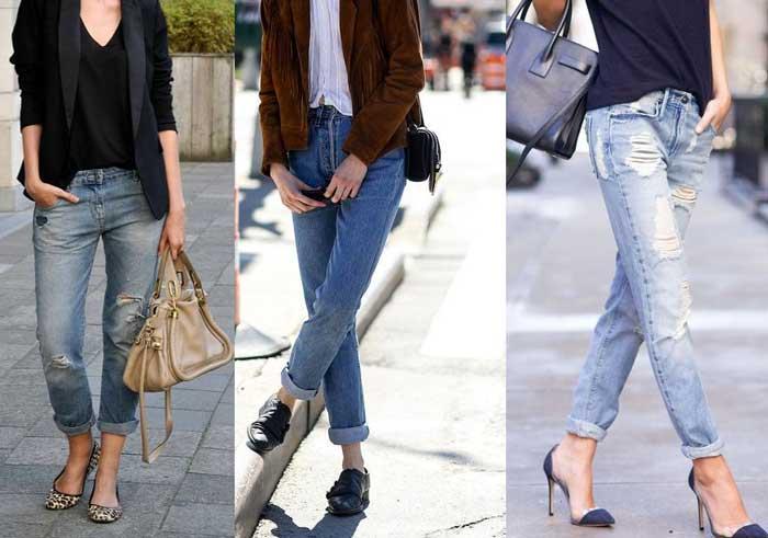 Подвернутые джинсы