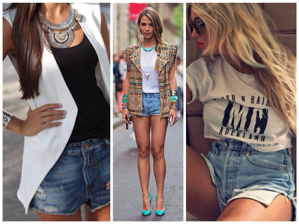 Популярные модели джинсовых шорт
