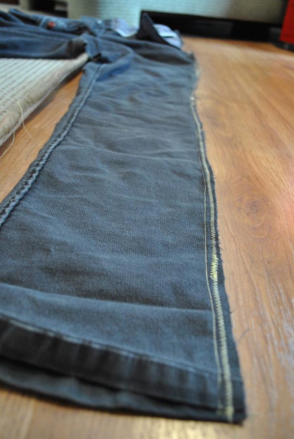 Прошитые джинсы