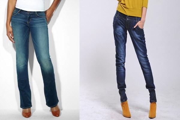 Прямые джинсы для женщин