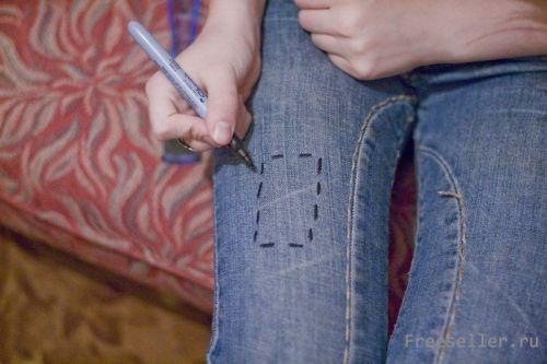 Разметка джинс