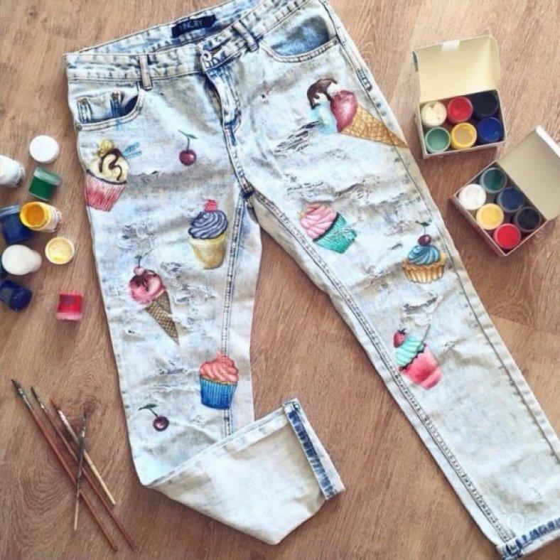 Рисунки на джинсах