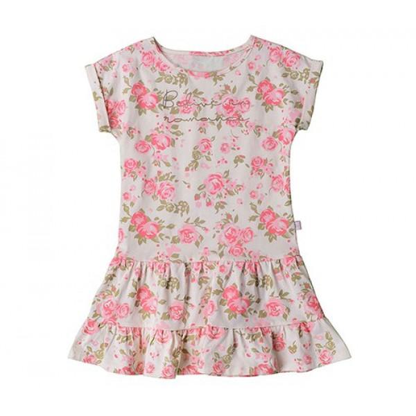 Розовые цветочки на платье